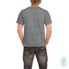 T-Shirt Mannen Budget bedrukt heathergrey