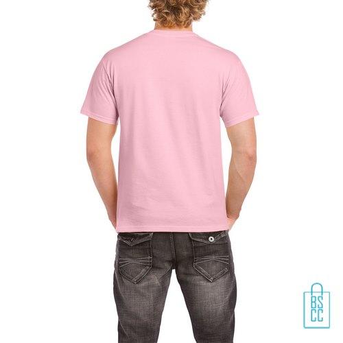 T-Shirt Mannen Budget bedrukt licht roze
