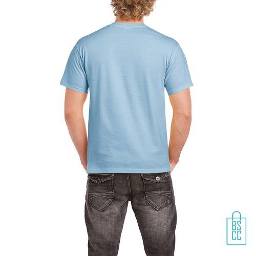 T-Shirt Mannen Budget bedrukt lichtblauw