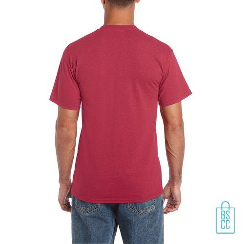 T-Shirt Mannen Budget bedrukt lichtrood