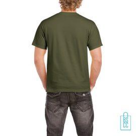 T-Shirt Mannen Budget bedrukt militairgroen