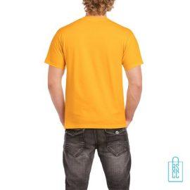 T-Shirt Mannen Budget bedrukt okergeel