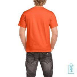 T-Shirt Mannen Budget bedrukt oranje