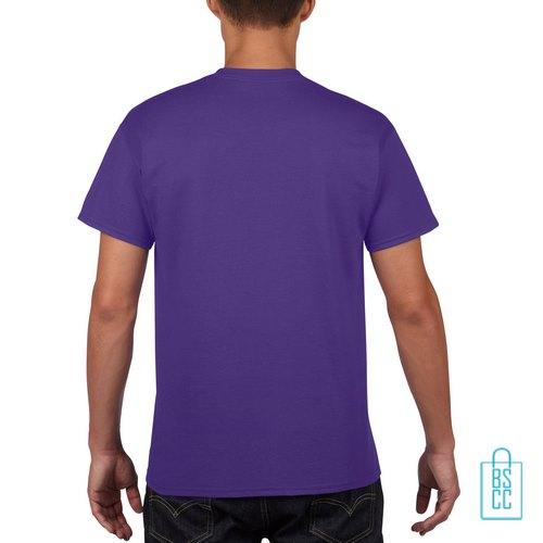 T-Shirt Mannen Budget bedrukt paars