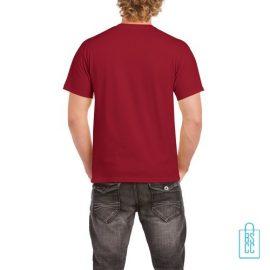 T-Shirt Mannen Budget bedrukt rood