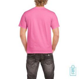 T-Shirt Mannen Budget bedrukt roze