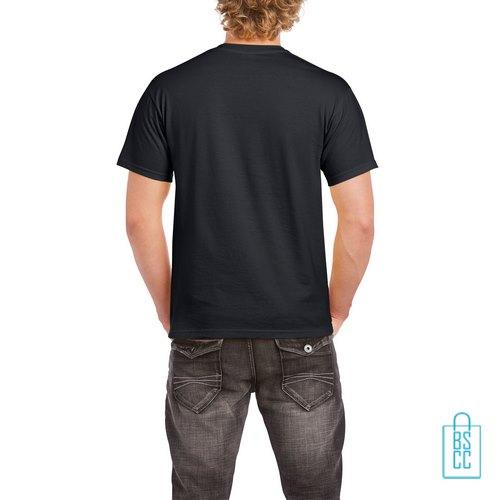 T-Shirt Mannen Budget bedrukt zwart