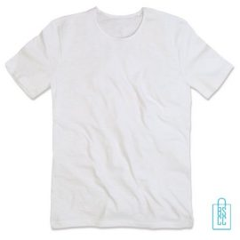T-Shirt Mannen Cotton bedrukken wit