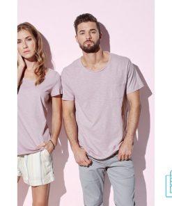 T-Shirt Mannen Lage Hals bedrukken met logo (1)