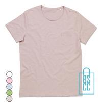 T-Shirt Mannen Lage Hals bedrukken