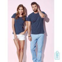 T-Shirt Mannen Recht Model bedrukken goedkoop