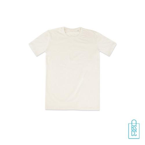 T-Shirt Mannen Soft Jersey bedrukken creme