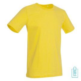 T-Shirt Mannen Soft Jersey bedrukken geel
