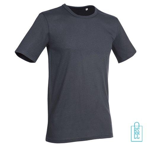 T-Shirt Mannen Soft Jersey bedrukken grijs
