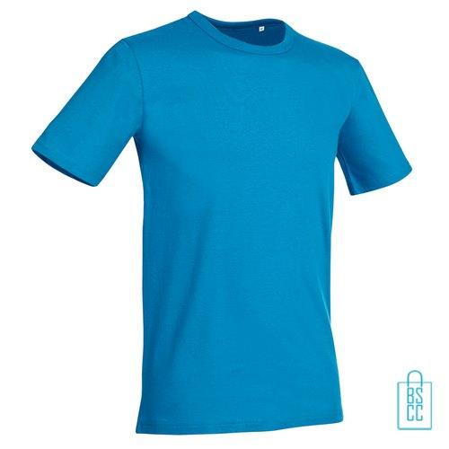 T-Shirt Mannen Soft Jersey bedrukken lichtblauw