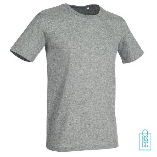 T-Shirt Mannen Soft Jersey bedrukken lichtgrijs