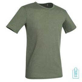 T-Shirt Mannen Soft Jersey bedrukken militairgroen