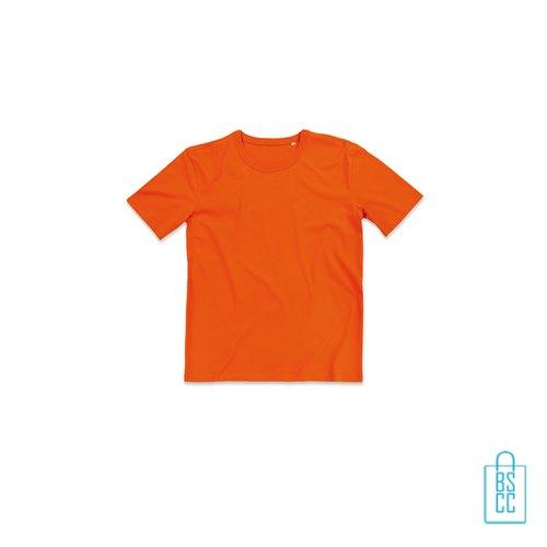 T-Shirt Mannen Soft Jersey bedrukken oranje