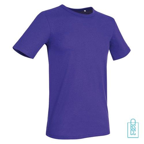 T-Shirt Mannen Soft Jersey bedrukken paars