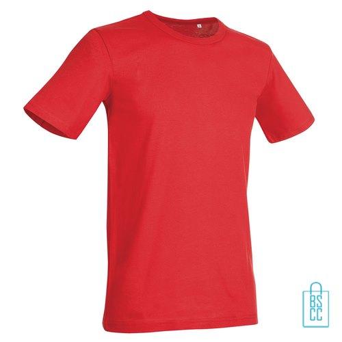 T-Shirt Mannen Soft Jersey bedrukken rood