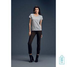 T-Shirt dames V-Hals casual bedrukken met logo, v-hals bedrukt, bedrukte v-hals met logo