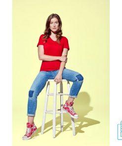 T-Shirt dames v-hals budget bedrukken ontwerpen, v-hals bedrukt, bedrukte v-hals met logo