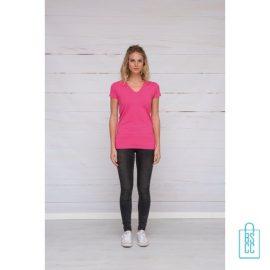 T-Shirt dames v-hals premium bedrukken met logo, v-hals bedrukt, bedrukte v-hals met logo