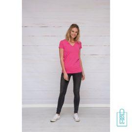 T-Shirt dames v-hals premium bedrukken met opdruk, v-hals bedrukt, bedrukte v-hals met logo