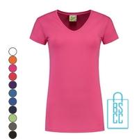 T-Shirt dames v-hals premium bedrukken, v-hals bedrukt, bedrukte v-hals met logo