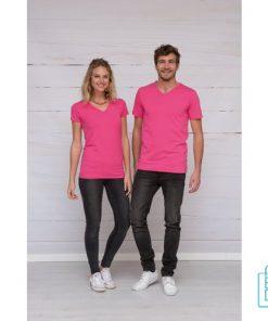 T-Shirt dames v-hals premium bedrukt goedkoop, v-hals bedrukt, bedrukte v-hals met logo