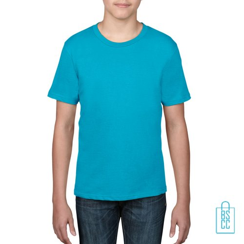 T-Shirt kind goedkoop bedrukken aqua