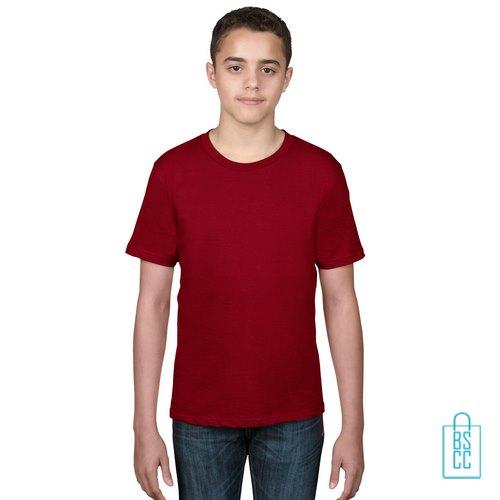 T-Shirt kind goedkoop bedrukken dieprood
