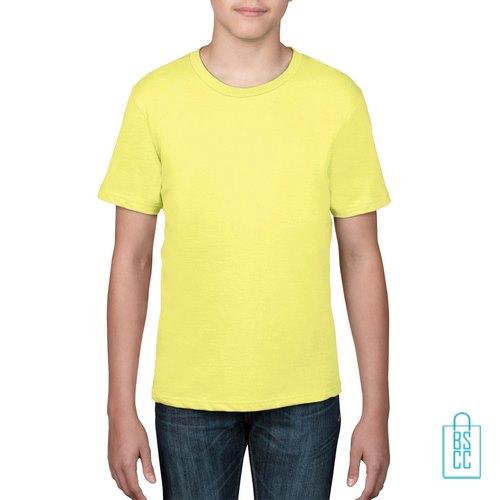 T-Shirt kind goedkoop bedrukken geel