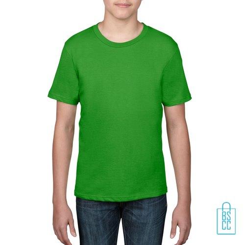 T-Shirt kind goedkoop bedrukken grasgroen