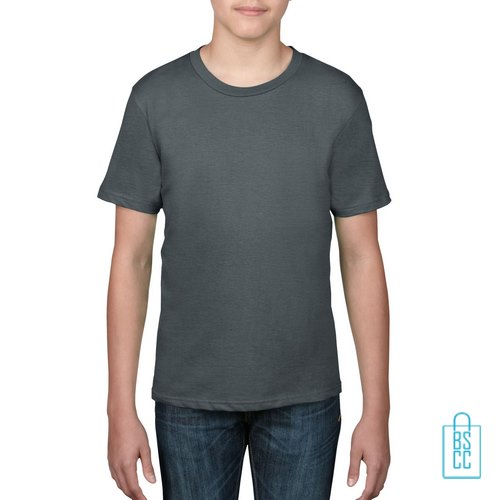T-Shirt kind goedkoop bedrukken grijs
