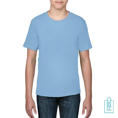 T-Shirt kind goedkoop bedrukken lichtblauw