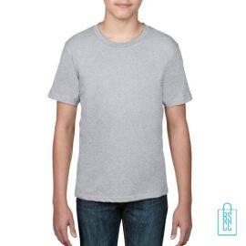 T-Shirt kind goedkoop bedrukken lichtgrijs