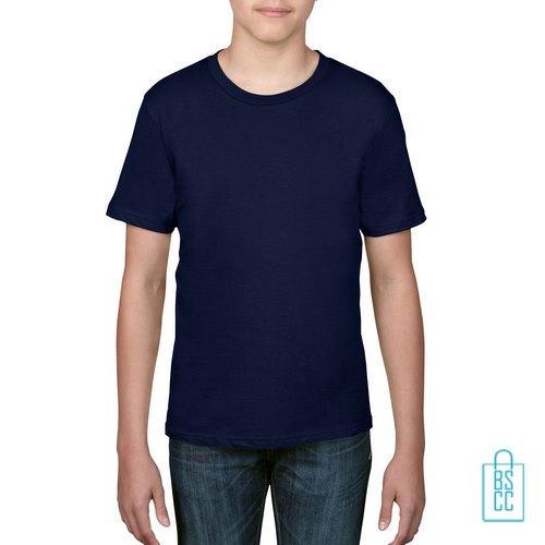 T-Shirt kind goedkoop bedrukken navy