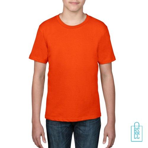 T-Shirt kind goedkoop bedrukken oranje