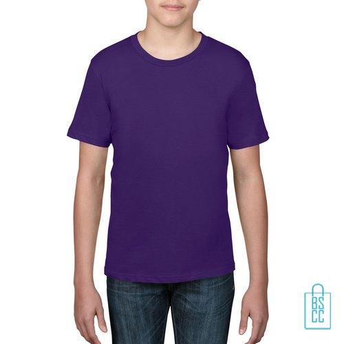T-Shirt kind goedkoop bedrukken paars
