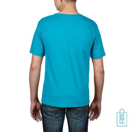 T-Shirt kind goedkoop bedrukt aqua