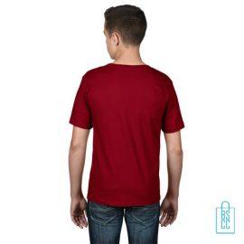 T-Shirt kind goedkoop bedrukt dieprood