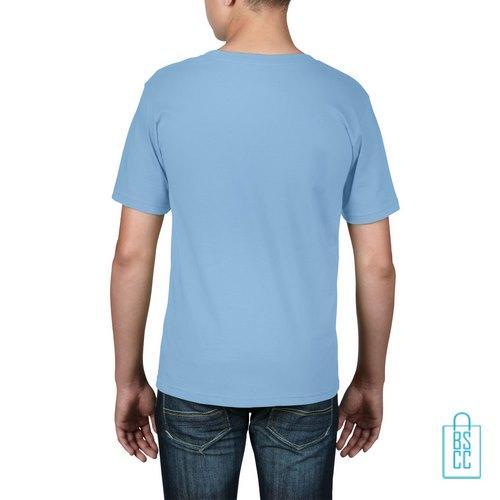 T-Shirt kind goedkoop bedrukt lichtblauw