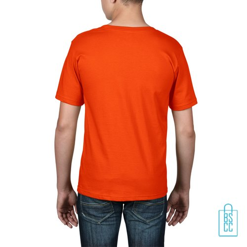 T-Shirt kind goedkoop bedrukt oranje