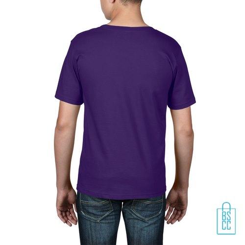 T-Shirt kind goedkoop bedrukt paars