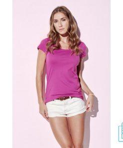 T-Shirt vrouwen Soft Jersey bedrukken met logo