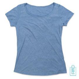 T-Shirt vrouwen Vintage bedrukken poederblauw