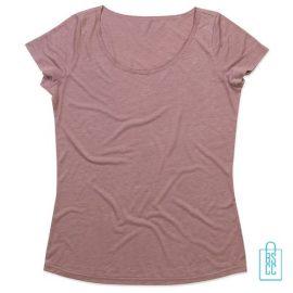 T-Shirt vrouwen Vintage bedrukken poederroze