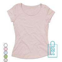 T-Shirt vrouwen lage hals bedrukken