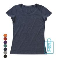 T-Shirt vrouwen recht model bedrukken